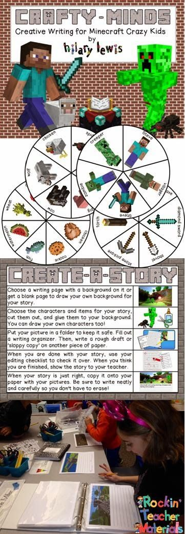 My kids are Minecraft crazy, so I found out about it and decided to make a writing packet for the kids to write about their adventures instead of just telling me about them!