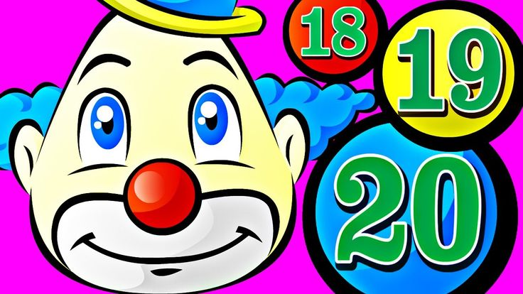 Number Counting Juggling Circus Clown - Learn to Count 1 to 20 for Kids