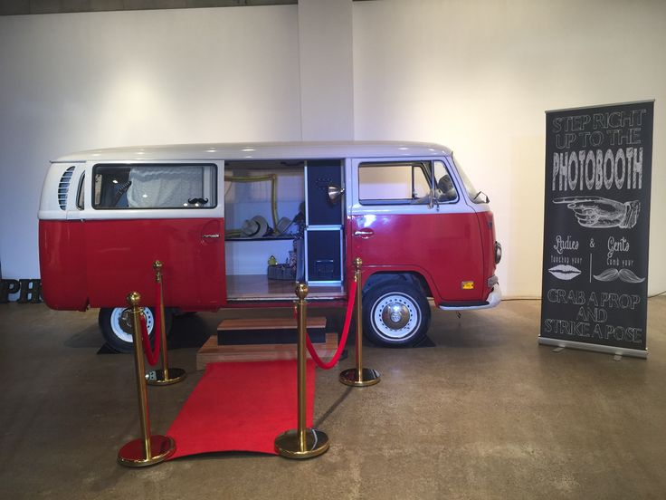 vw photo booth bus al set up in toronto