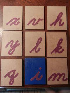 """""""Making Montessori Ours"""": Make Cursive Sandpaper Letters"""