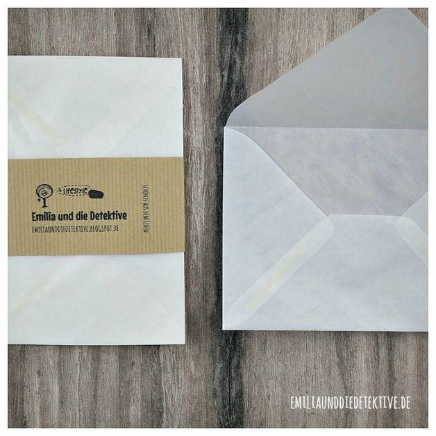 Briefumschläge - 6 Stk. Pergamin Briefumschläge - ein Designerstück von emiliaunddiedetektive bei DaWanda