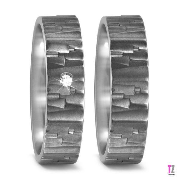 Titanium trouwringen T52480
