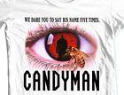 Candyman T-shirt retro horror movie 80's slasher films 100% cotton graphic tee