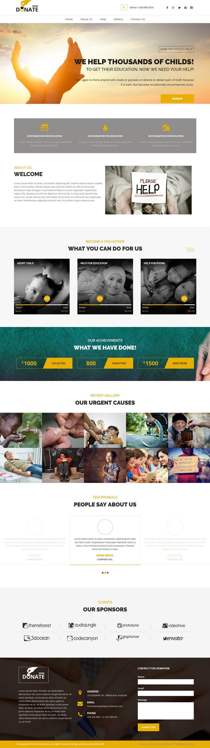 Fundraising is wonderful responsive bootstrap HTML #template for #charity and #donation websites. Download Now!