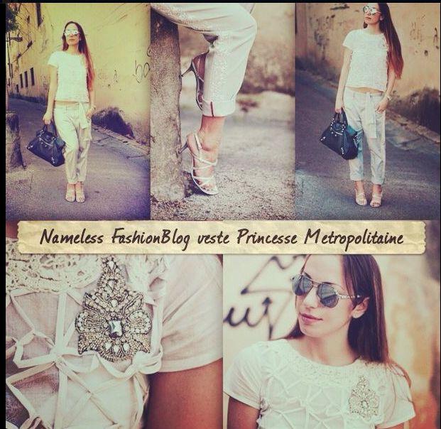La blogger Elisa Zanetti del fashion blog Nameless interpreta perfettamente un outfit completamente firmato Princesse Metropolitaine.