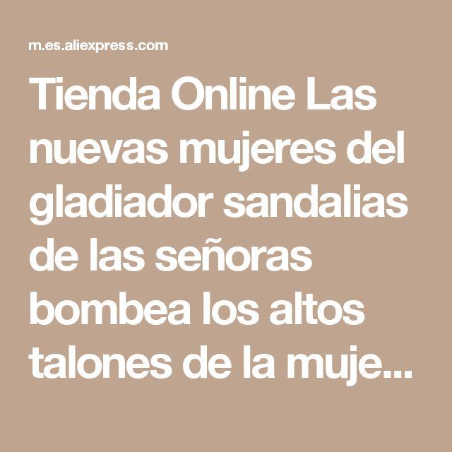 Tienda Online Las nuevas mujeres del gladiador sandalias de las señoras bombea los altos talones de la mujer Transparente del partido t-strap Tacones zapatos de vestir de boda Transparente | Aliexpress móvil