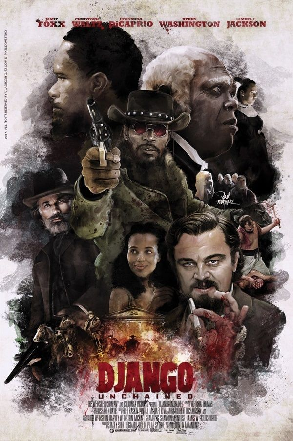 Quentin Tarantino - Movie Poster - Django Unchained