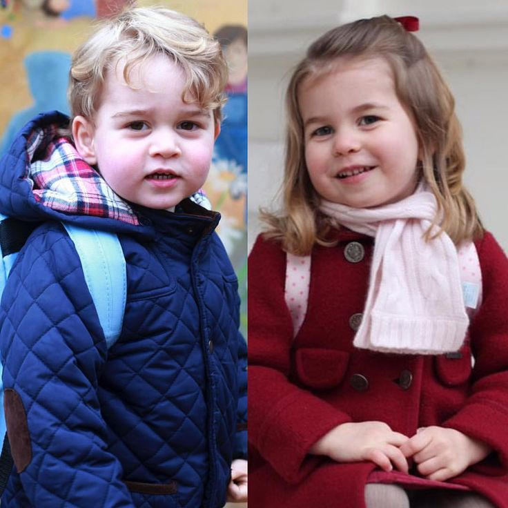 "2,388 Likes, 17 Comments - Royal Addicted (@royaladdicted2) on Instagram: ""#New Princess Charlotte started today Nursery School (8th January)❤️ . Trowback to Prince George…"""