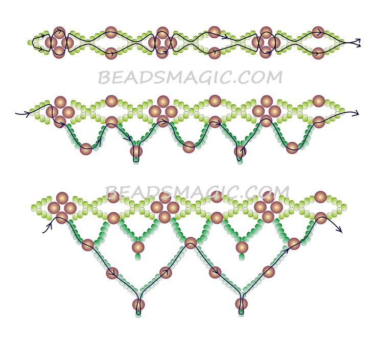 Free pattern for beaded necklace Electric Blue      U need:  seed beads 11/0  round beads 4-6 mm          [ad#Ad