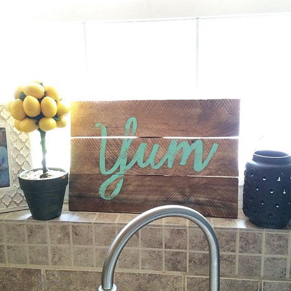 Hey, I found this really awesome Etsy listing at https://www.etsy.com/listing/233434774/reclaimed-wood-sign-wood-yum-sign-wood