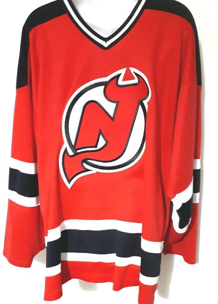New Jersey Devils NHL Ice Hockey Home Red Jersey XL Extra Large CCM Blank #CCM #NewJerseyDevils