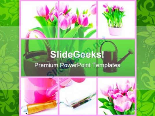 Gardening Nature PowerPoint Templates And PowerPoint Backgrounds - nature powerpoint template