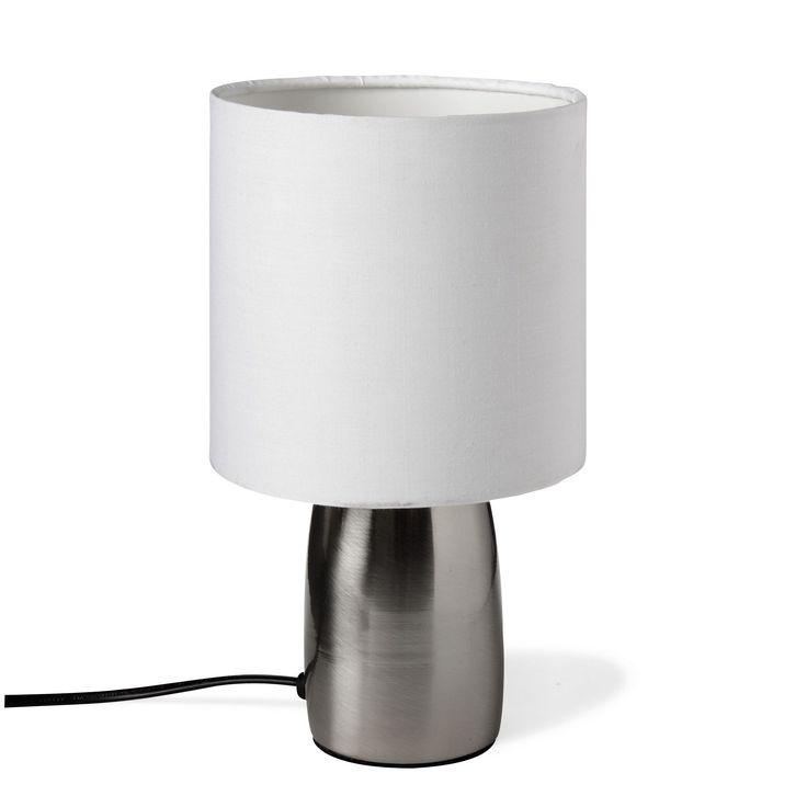 Lampe sensitive avec abat-jour H25cm Blanc - Touch / Zap - Les lampes à poser - Luminaires - Salon et salle à manger - Décoration d'intérieur - Alinéa