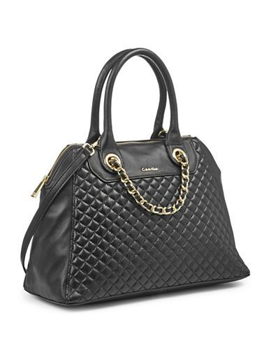 Calvin Klein - Leather Quilted Front Satchel