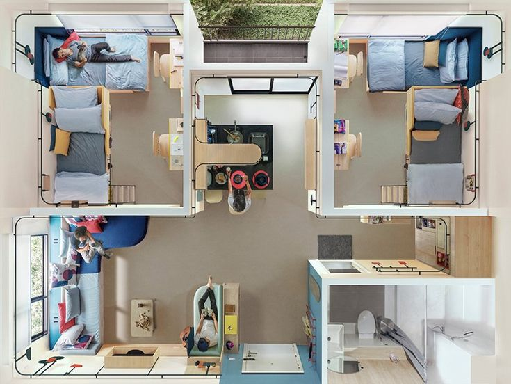 Designboom On Twitter Space Saving Furniture Student House Living Design