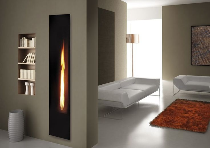 Mirror Flame Fireplace Insert With Visible Flame Through A