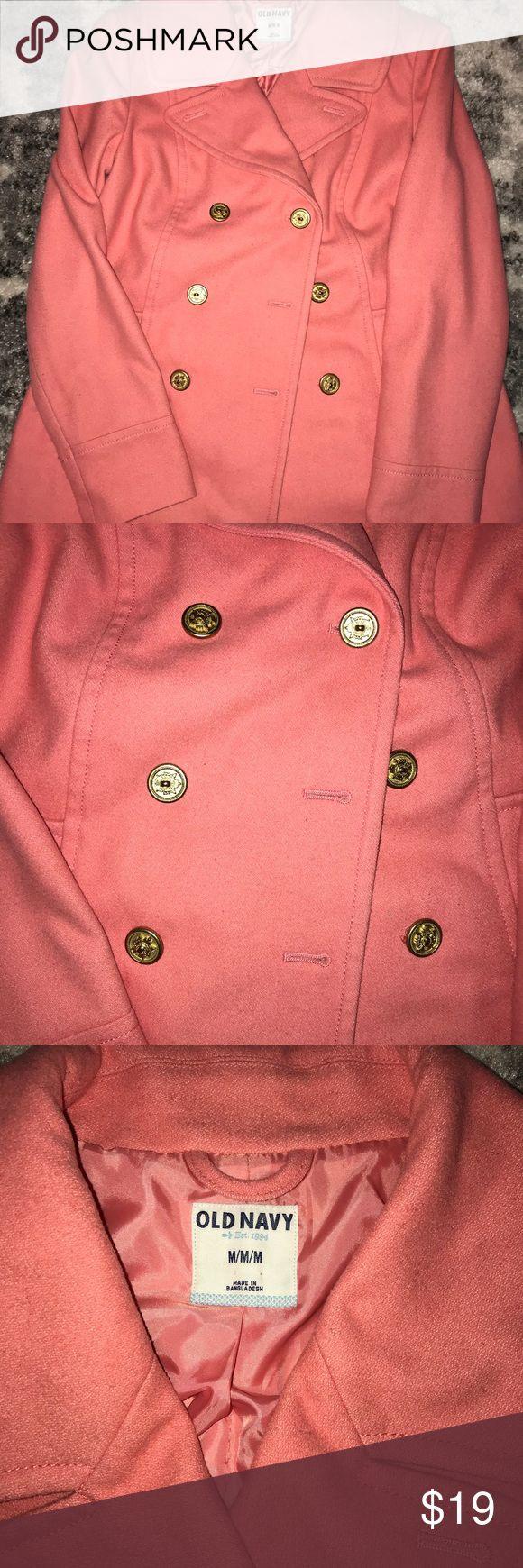 Coral coat Beautiful coral Jackets & Coats Pea Coats