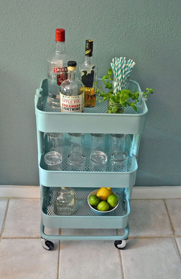 Schminktisch Modern Design Ikea ~   turquoise Ikea Raskog kitchen cart I knew that it would make the
