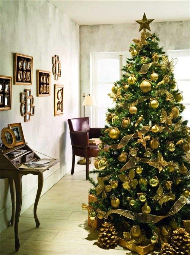 rbol de navidad dorado rboles de navidad decoracion arbol navidad decoracion navidea de navidad ideas para ideas navidad