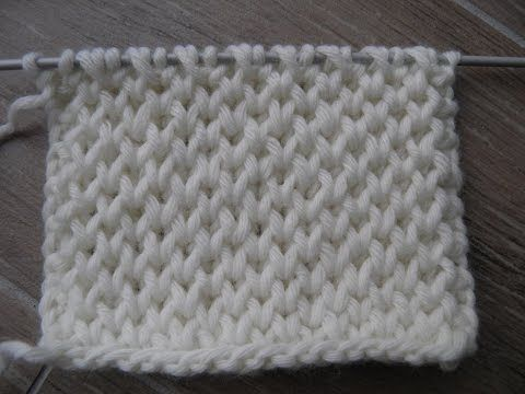 Leçon n°18 - Tricoter le point nid d'abeilles - YouTube