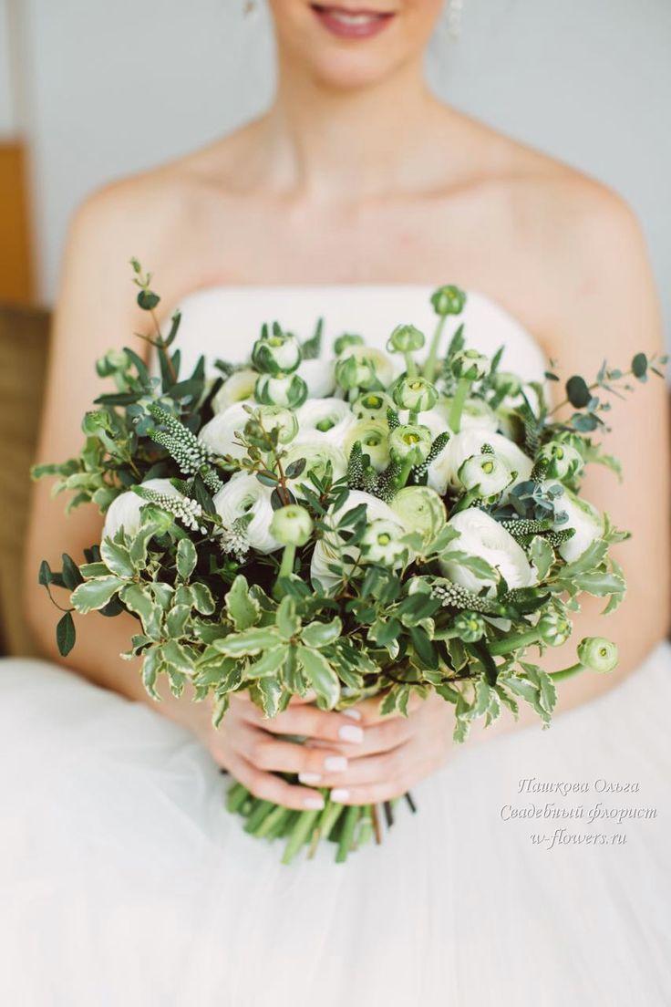 Белый букет из ранункулюсов #букетневесты #свадебныйбукет #растрепыш #ранункулюсы