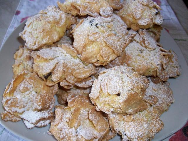 Le ricette di zia Patty: Biscotti corn flakes e cioccolato (vanno abbastanza bene per i biscotti in barattolo)