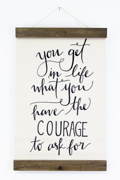 Courage Wall Hanging from www.mooreaseal.com