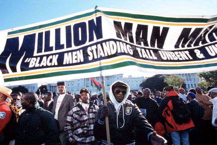 Million Man March, when black Americans from across the country rallied in Washington, D.C. to unify under a mission which aimed to restore and revitalize the black community. |Huffington