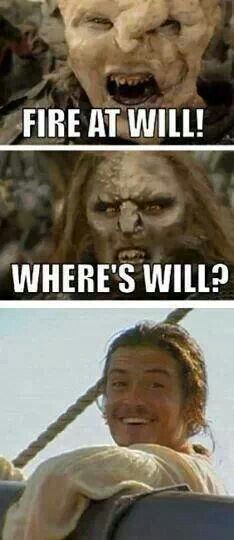 Lol I haven't seen Pirates of the Caribbean yet, but this is just too funny. #OrlandoBloom