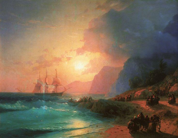 На острове Крит - 1867 год. Айвазовский Иван Константинович