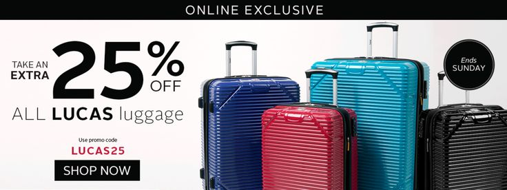 Bentley Canada Deal: Save an Extra 25% Off All Lucas Luggage! http://www.lavahotdeals.com/ca/cheap/bentley-canada-deal-save-extra-25-lucas-luggage/180324?utm_source=pinterest&utm_medium=rss&utm_campaign=at_lavahotdeals