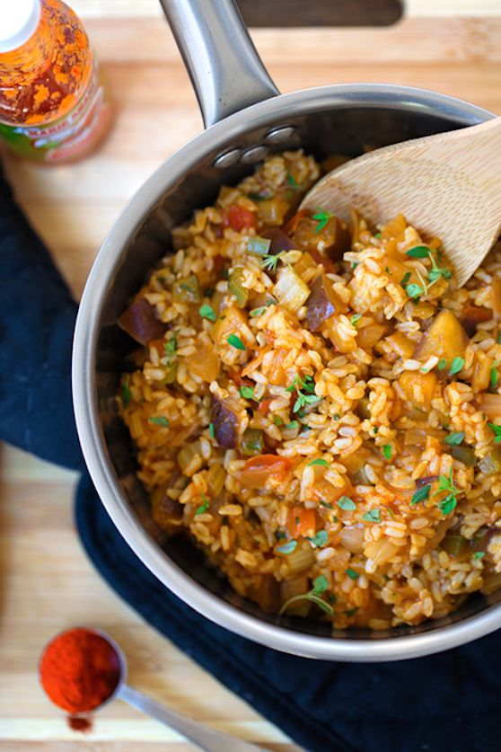 "Cajun ""dirty rice"" — vegan recipe"