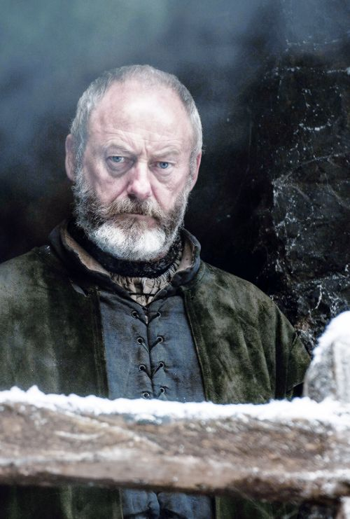Davos, I love his character!! I hope he plays a big part in brining Jon back