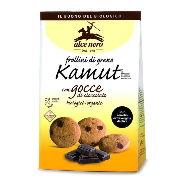 Frollini di grano khorasan Kamut con gocce di cioccolato - 300 grammi