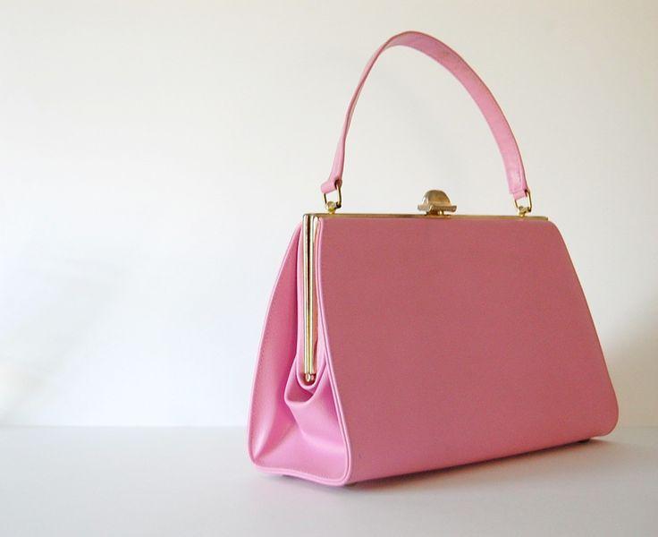 vintage 1960s  Miss America by Smartaire handbag (bubble gum pink)