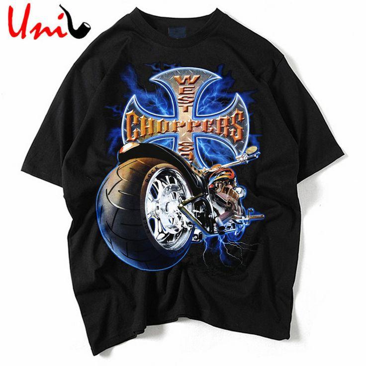 2016 Summer Creative Men T Shirt Punk Rock T-Shirts 3D Printed Motorcycle T shirts Hip Hop Man Tee Street-wear Men Tshirt YN560