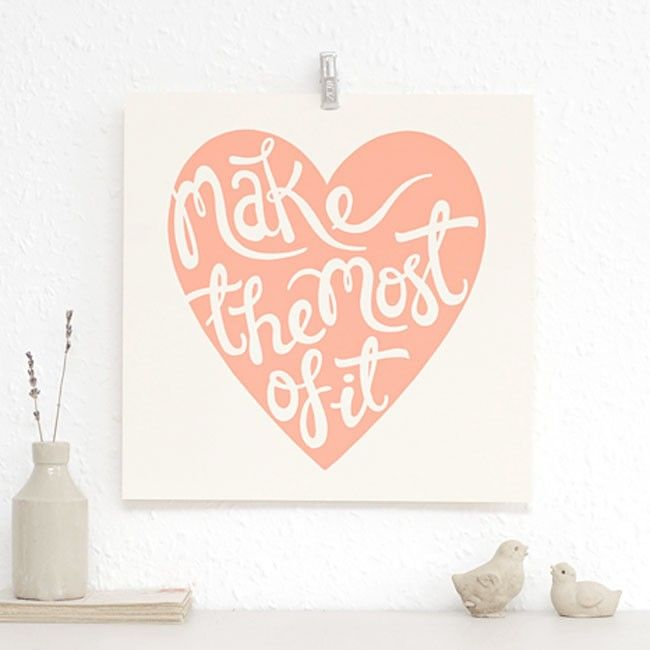 Hang this sweet little print as an important reminder to live life to the fullest! | huntingforgeorge.com