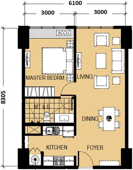 1bedroomfloorplanunit02and06approximately50sqm