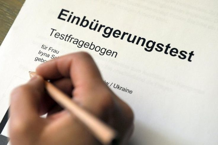 "iTips: ••Einbürgerungstest: all Questions from Welt newpaper•• directly on .de gov site • German citizenship test requires, since 2008 only, a written multiple choice test • one only needs to answer 33/310 random Questions + one only needs 17/33 right to pass! (though even local Germans might have trouble answering some more obscure Q) • €25/test • retake test unlimited times if need be • the gov. site is the ""Bundesamt für Migration & Flüchtlinge"" (fed. dept. of migration & refugees!? ; )"