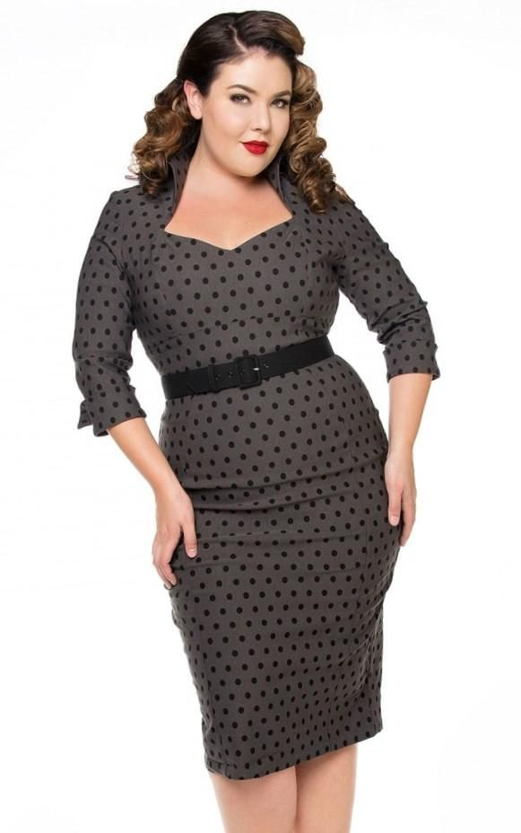 Plus size pinup dress - http://pluslook.eu/fashion/plus-size-pinup-dress.html. #dress #woman #plussize #dresses