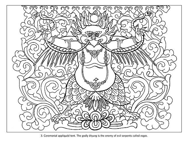14 best mandalas and thangkas to color images on pinterest for Tibetan mandala coloring pages