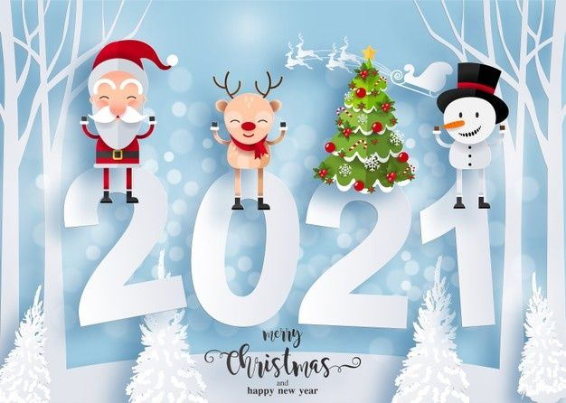 Download Merry Christmas And Happy New Year 2021 Greeting Card With Happy Characters Santa Claus Snowman And Reindeer For Free Happy Christmas Card Merry Christmas Hd Images Merry Christmas Card