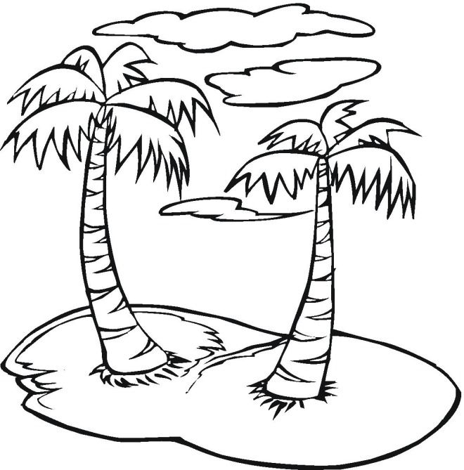 Free Trees Coloring Pages Tree Coloring Page Coloring Pages