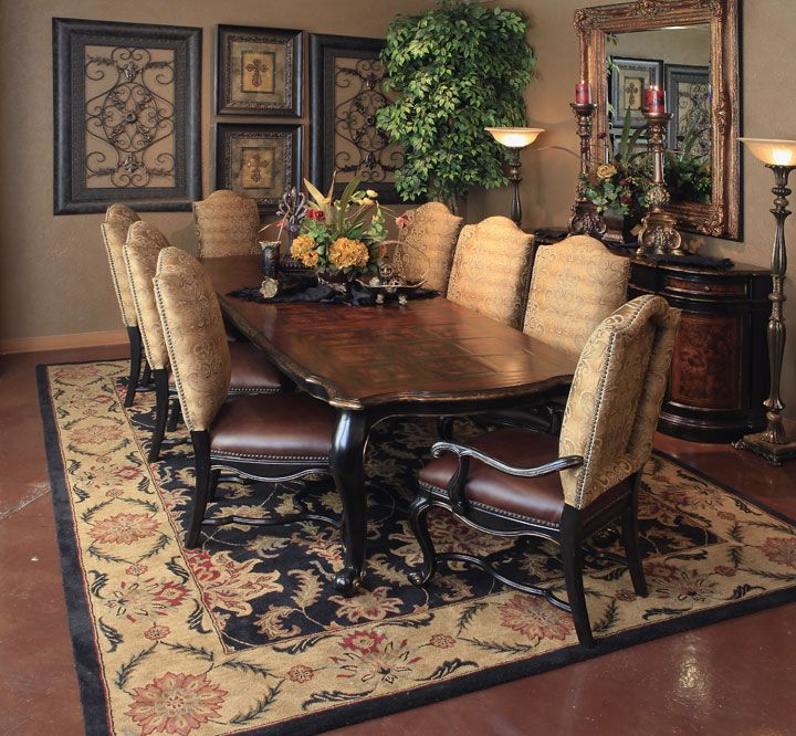 Grandover Rectangle Dining Hemispheres Us Room FurnitureTuscan