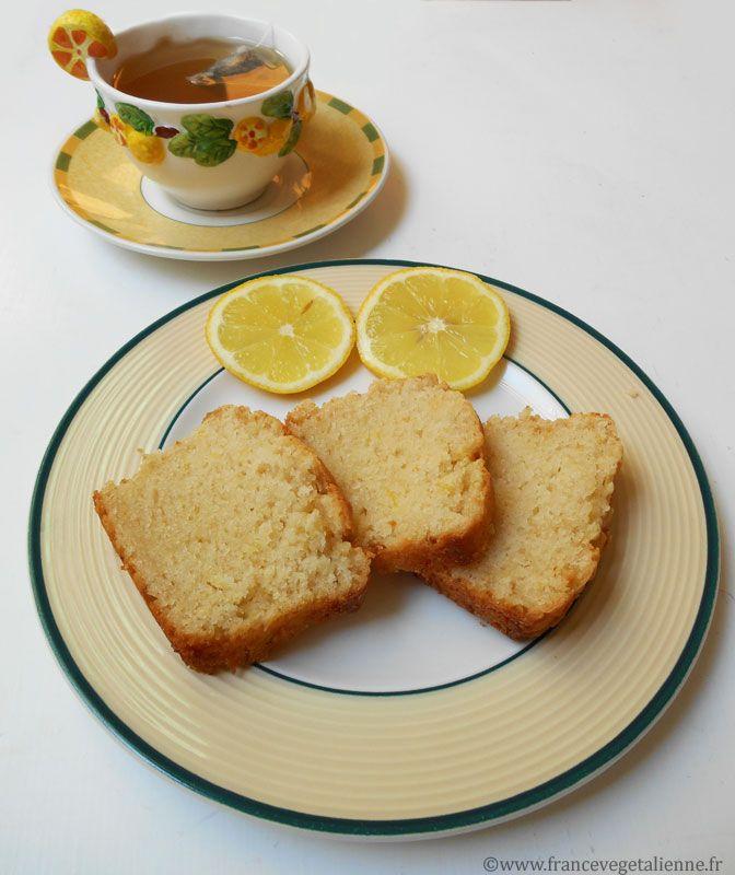 Cake au citron (végétalien) base yaourt soja