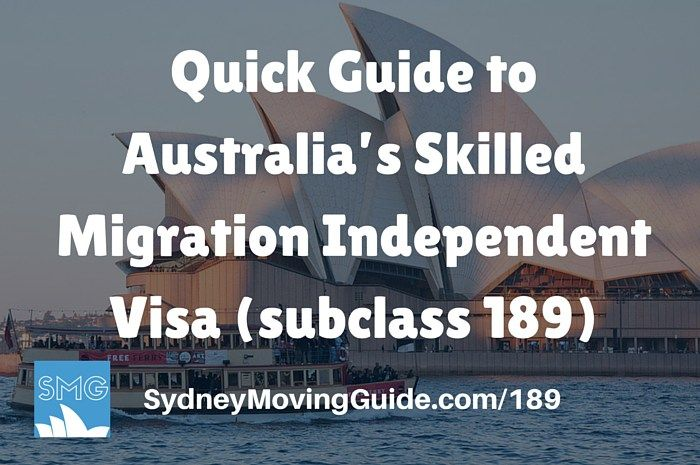 Quick Guide to Australia's Skilled Migration Independent Visa (subclass 189)