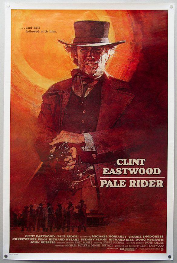 Pale Rider (1985) USA Warner Western.  D: Clint Eastwood. With Michael Moriarty, Carrie Snodgrass, Chris Penn, Richard Dysart, Richard Kiel. 10/04/02