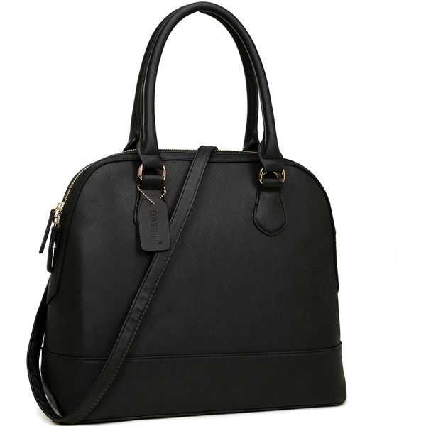 Dasein Saffiano Faux Leather Dome Zip-Around Handbag ($40) ❤ liked on Polyvore featuring bags, handbags, shoulder bags, beige, purse shoulder bag, cell phone purse, dome satchel handbag, faux-leather handbags and shoulder strap handbags