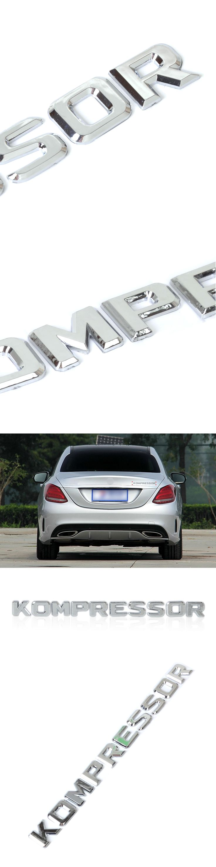 DWCX 3D Chrome KOMPRESSOR Badge Emblem Sticker for Mercedes Benz SLK CLK SL CLS ML GL A B C E S Class CL55 SLK200 C180 CLC200
