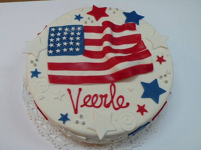 American Flag Cake by CAKE Amsterdam - Cakes by ZOBOT, via Flickr